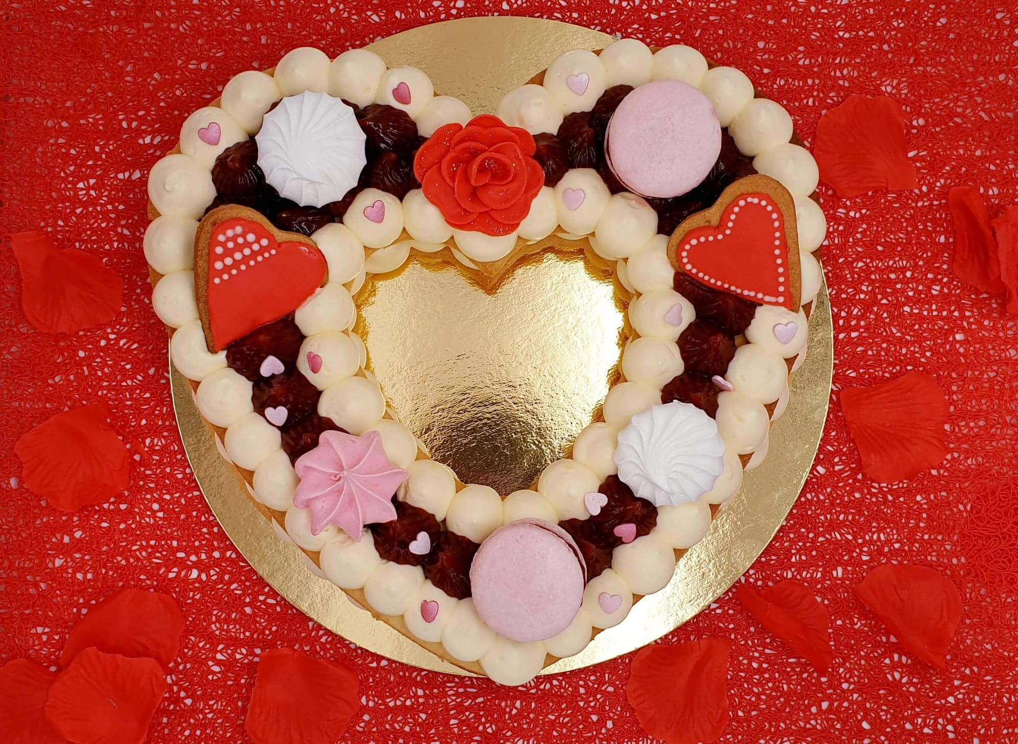 Heart cake Saint Valentin